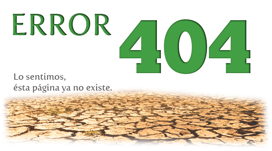 Error 404 - Pagina no encontrada
